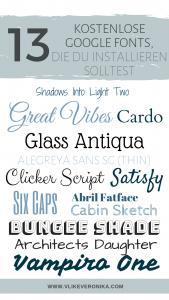 13 kostenlose Schriftarten von Google Fonts zum herunterladen und installieren