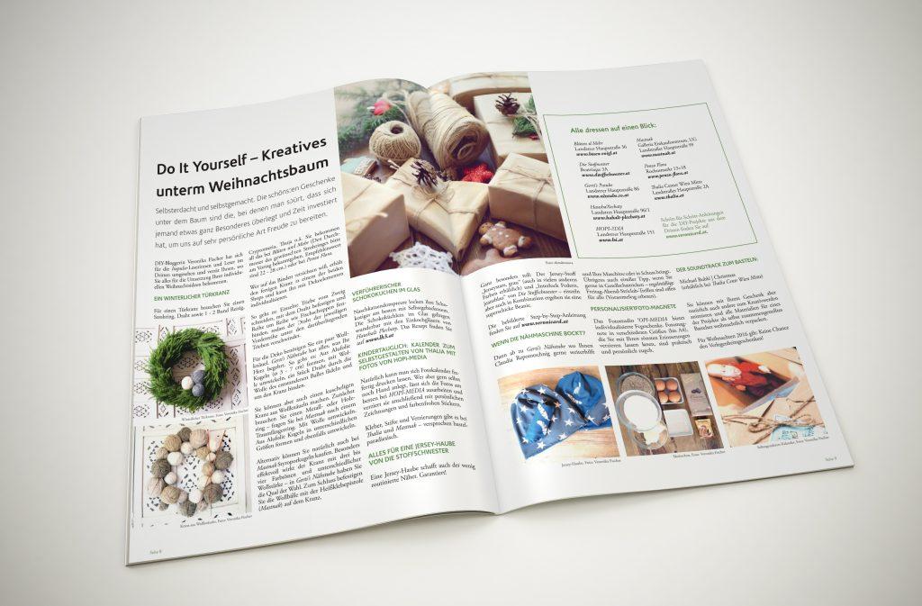 DIY-Bloggerin Veronika Fischer gibt Tipps für selbstgemachte Weihnachtsgeschenke an die Impulse-LeserInnen weiter.