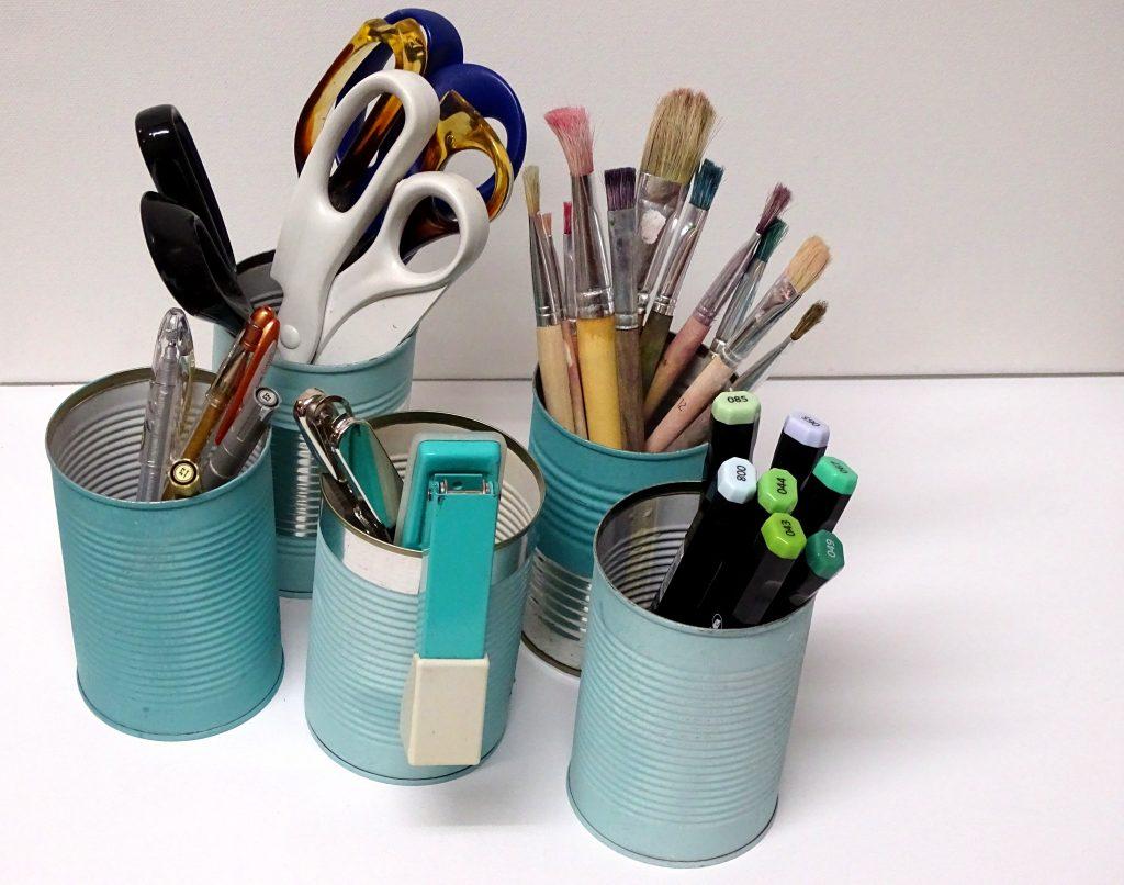 Dosen-Upcycling mit Kreidefarbe