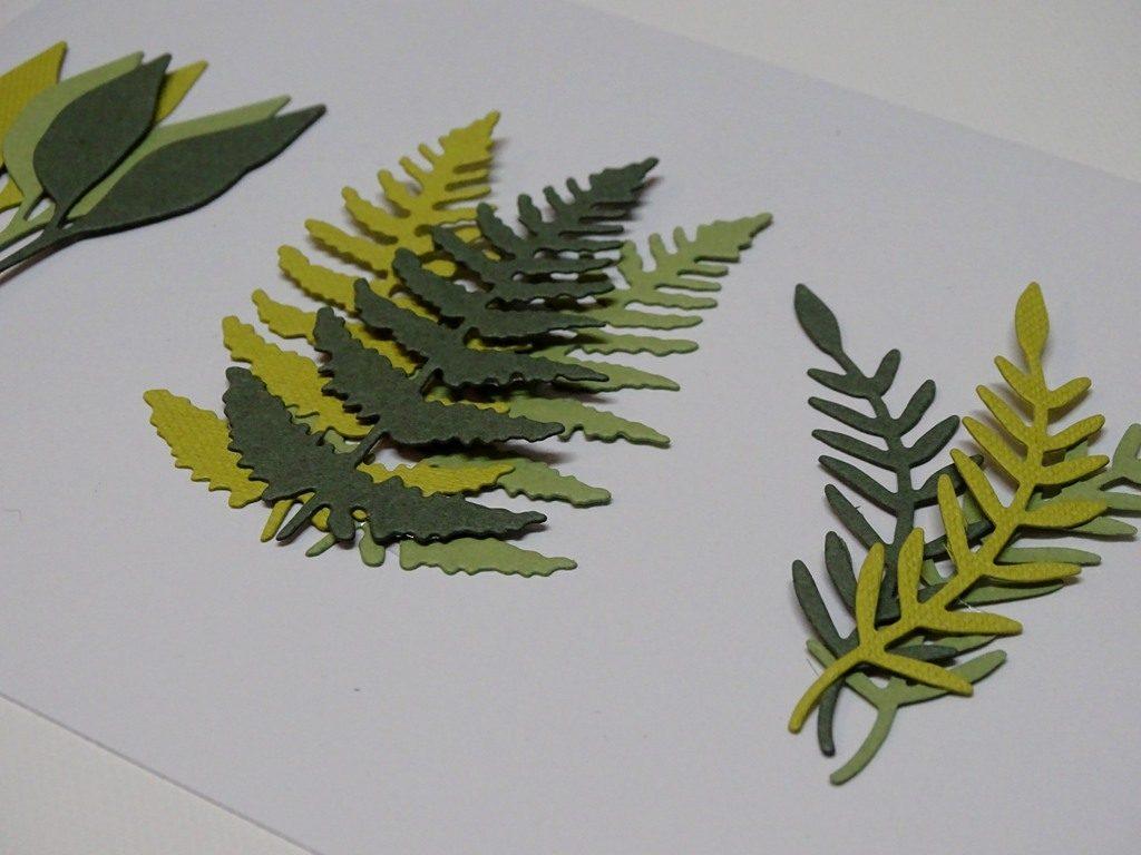 Thinlits Blätter Farn