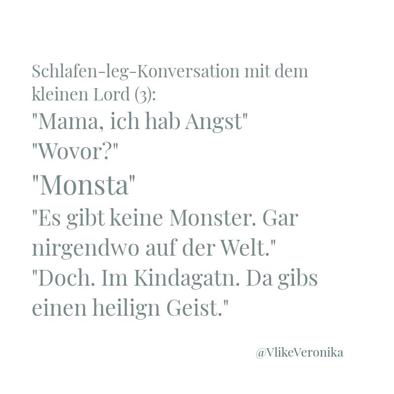 Kindermund: Geister und Moster: Im Kindergarten gibt's einen Geist.