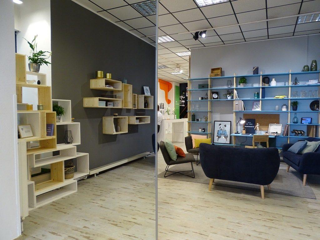 Loungebereich der OBI MachBar in Wien