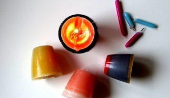 Kerzenreste upcycling