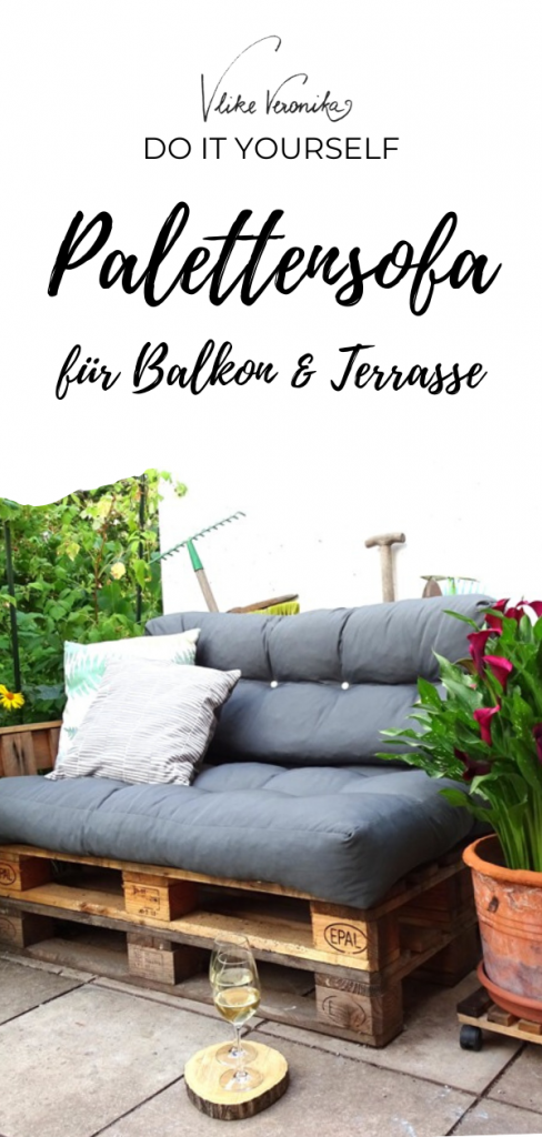 Ein Palettensofa für den Garten bauen ist einfach! Hier gibt es Tipps und einen mehrjährigen Erfahrungsbericht