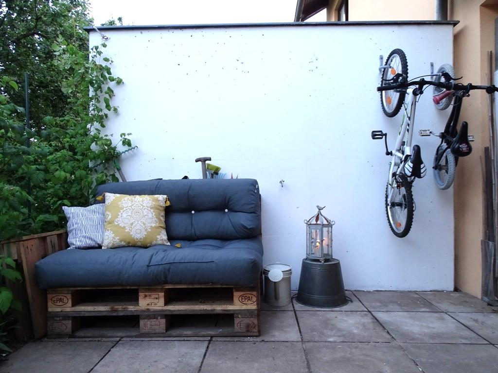 Palettenlounge für die Terrasse
