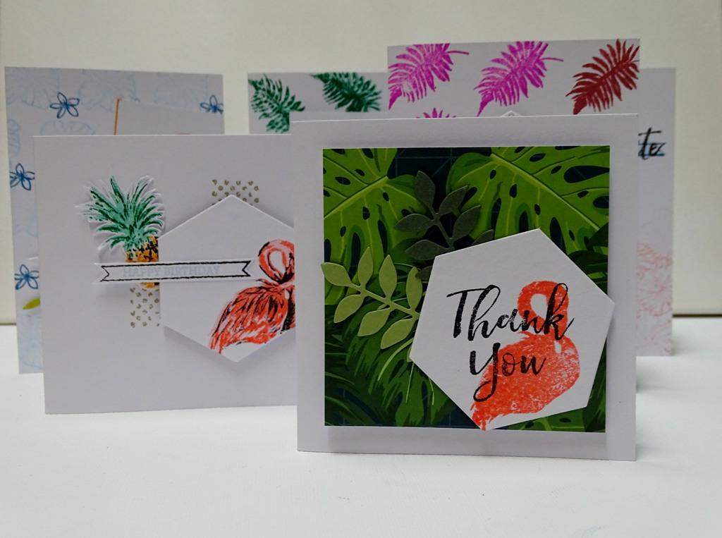 Flamingo Dankeskarte