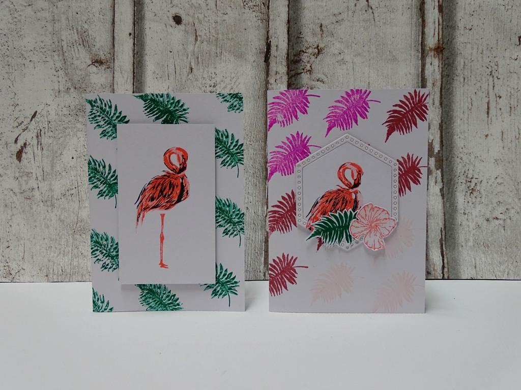 Flamingo-Karten selber machen