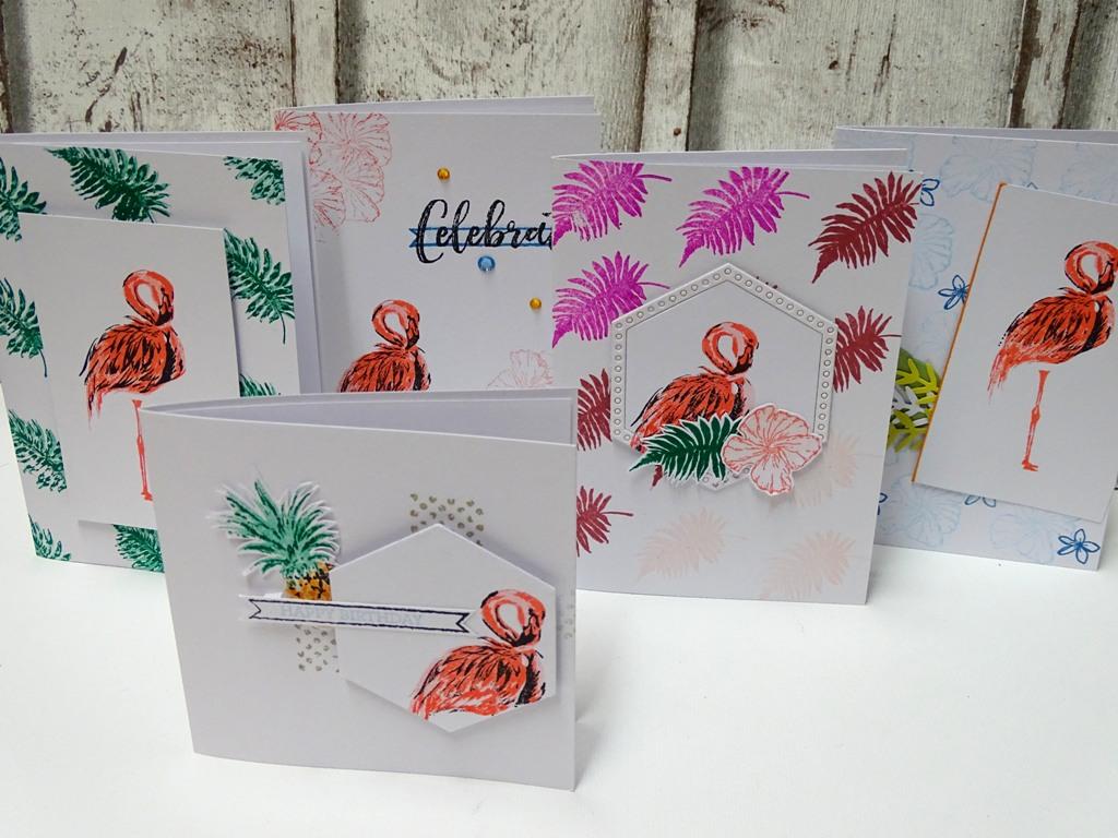 Flamingo-Stempel Kartenideen