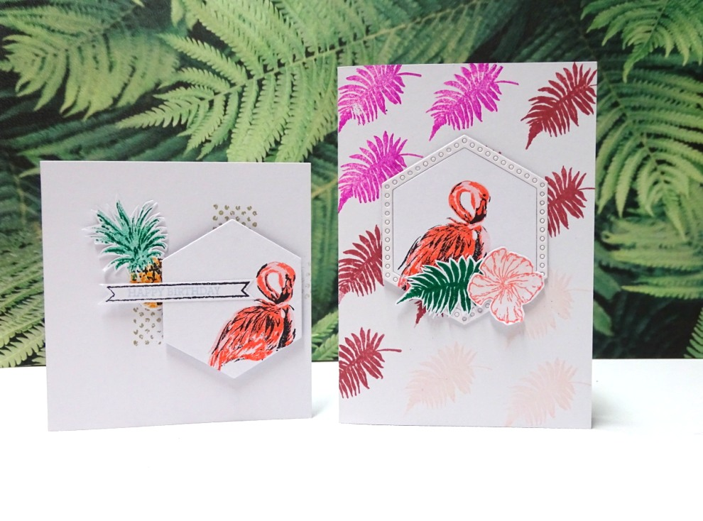 Flamingo Geburtstagskarte