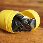 Überraschungsei Bastelideen: Aufbewahrung für Kopfhörer