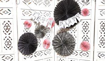Partydeko aus Geschenkpapier selber machen