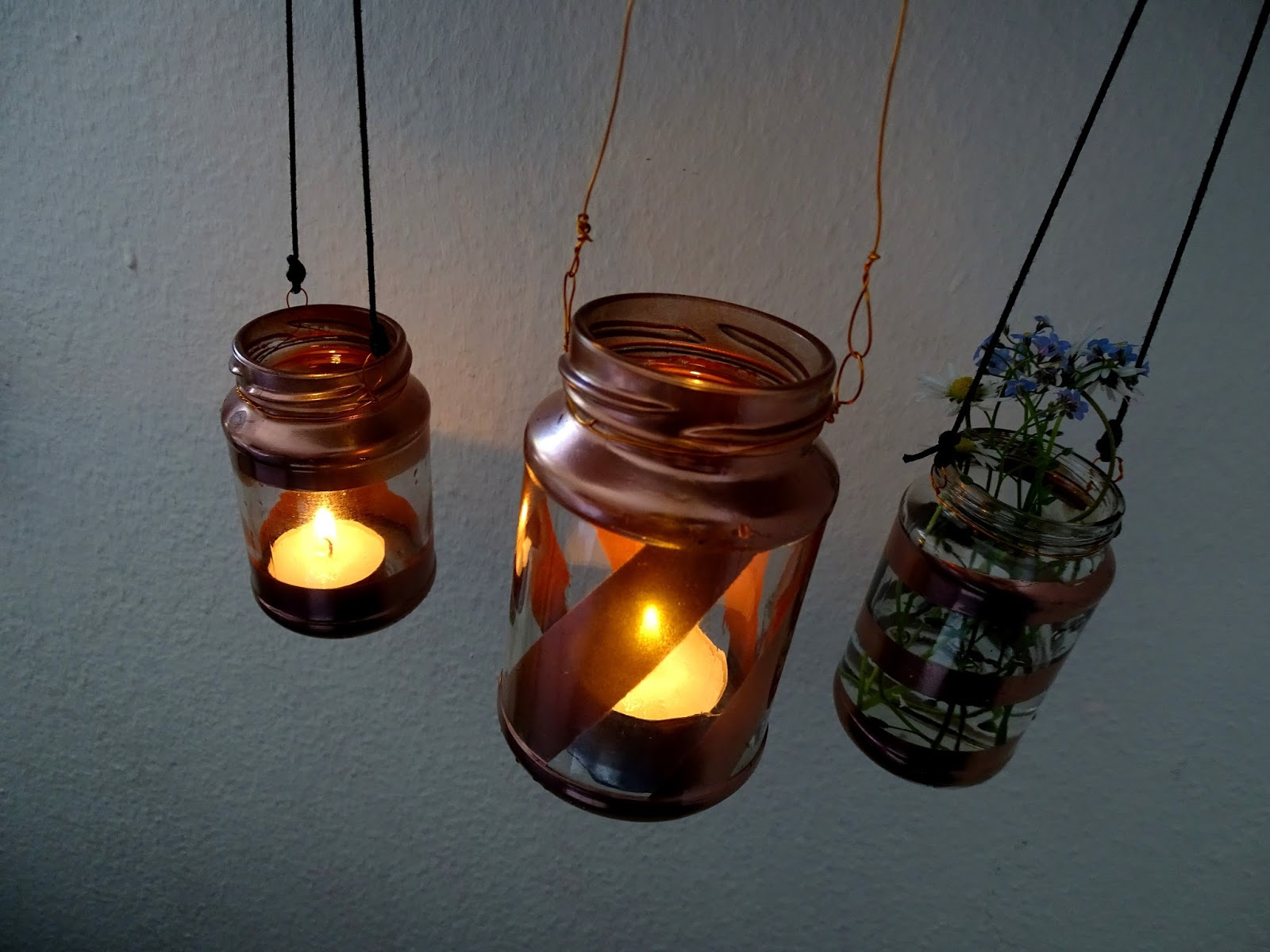 Glas-Upcycling Windlicht Hippglas Upcycling