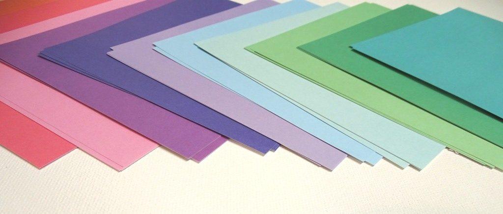 Origamipapiere im Farbverlauf