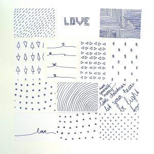 Muster auf Geschenkpapier malen