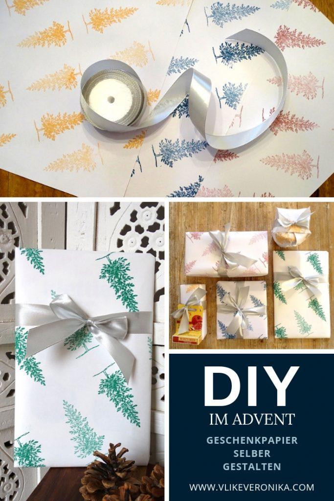 Geschenkpapier selber gestalten, Weihnachts-DIY-Ideen