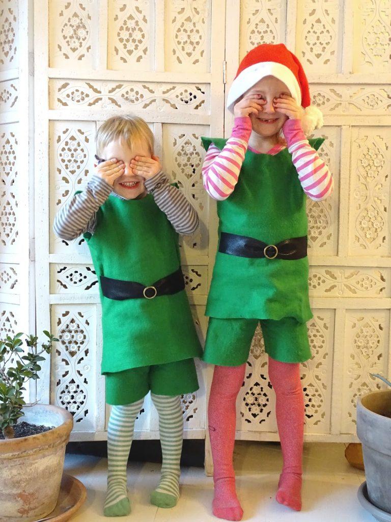 Elfenkostüm für Weihnachten selber nähen; Anleitung