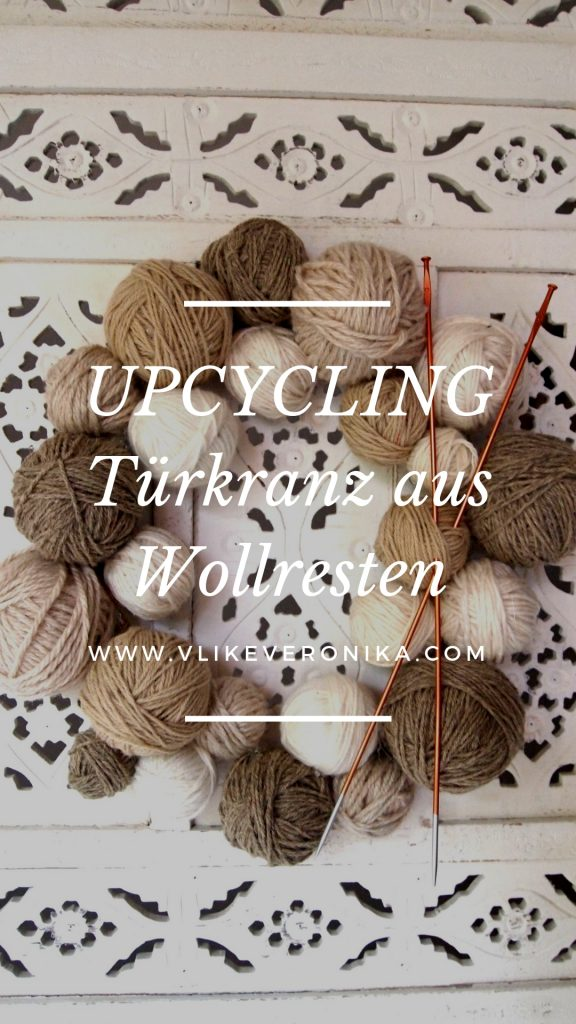 Türkranz aus Wollresten, upcycling DIY