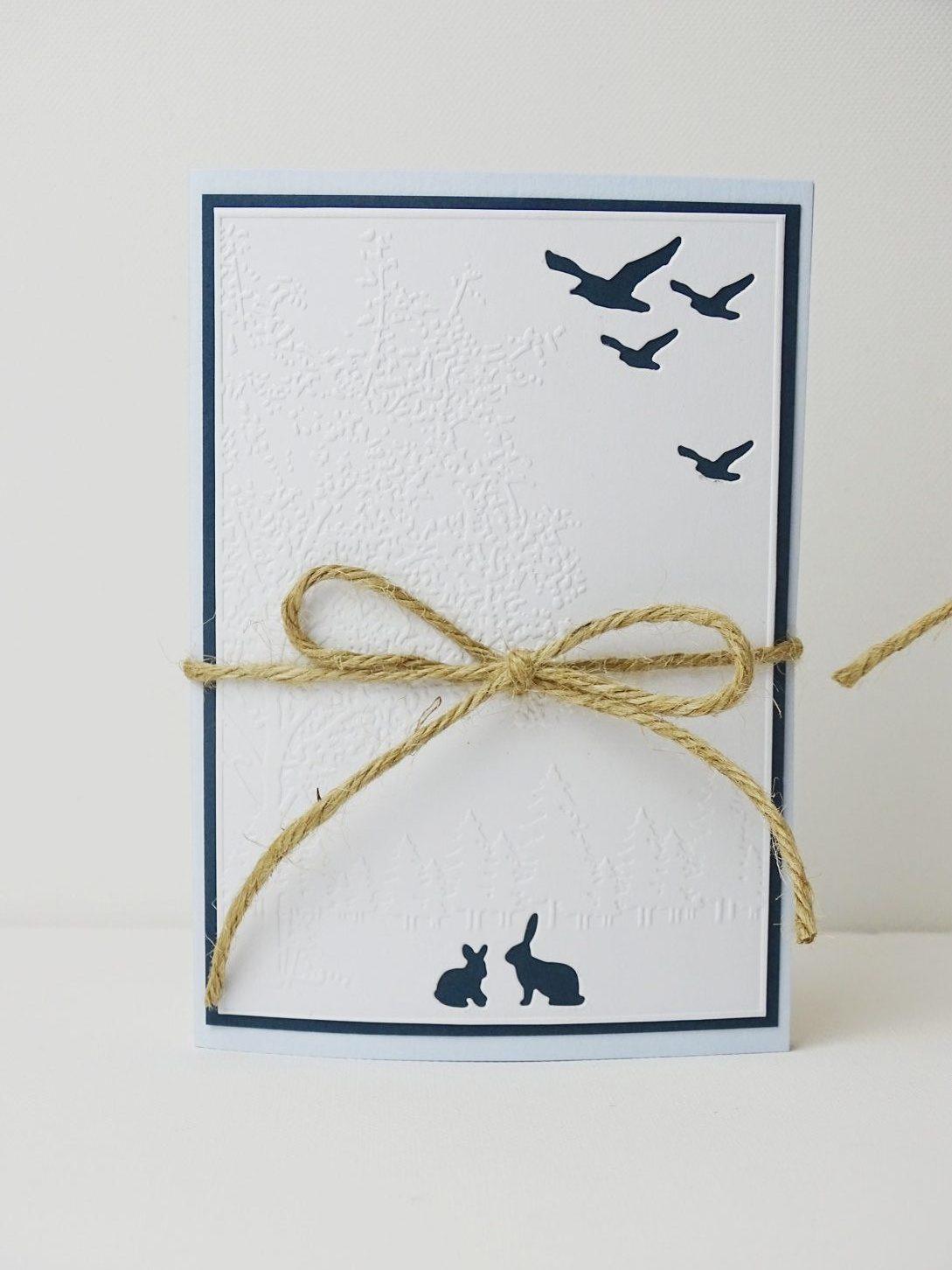 Weihnachtskarten mit der Sizzix Präge- und Stanzmaschine machen - Ideen für einfach Weihnachtskarten