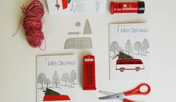 Flatlay Weihnachtskarten