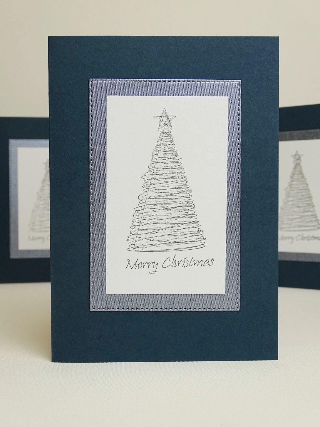Weihnachtskarten Stempeln machen - Ideen für einfache Weihnachtskarten
