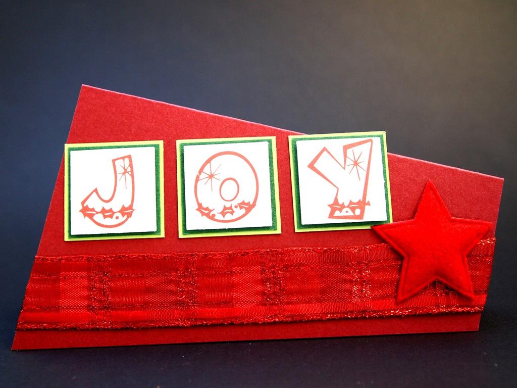 handgemachte Weihnachtskarten für Firmen, klassische Farben, cooles Format
