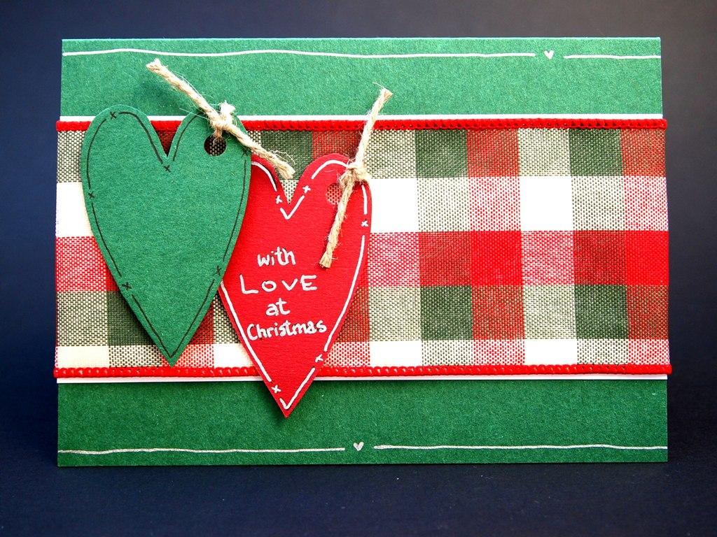 handgemachte Weihnachtskarten für Firmen