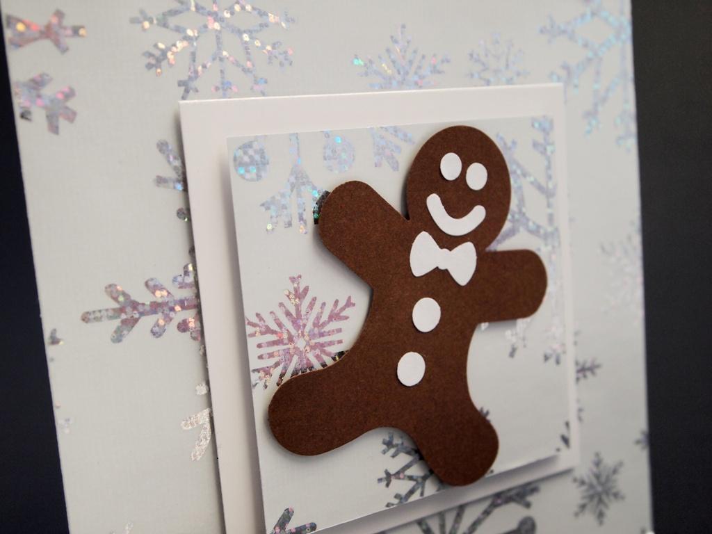 handgemachte Weihnachtskarten mit Lebkuchenmann