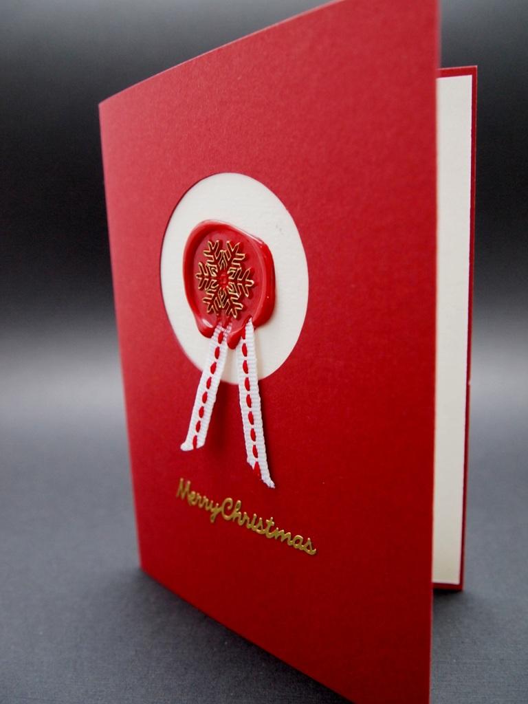 handgemachte Weihnachtskarten für Firmen mit Siegelwachs