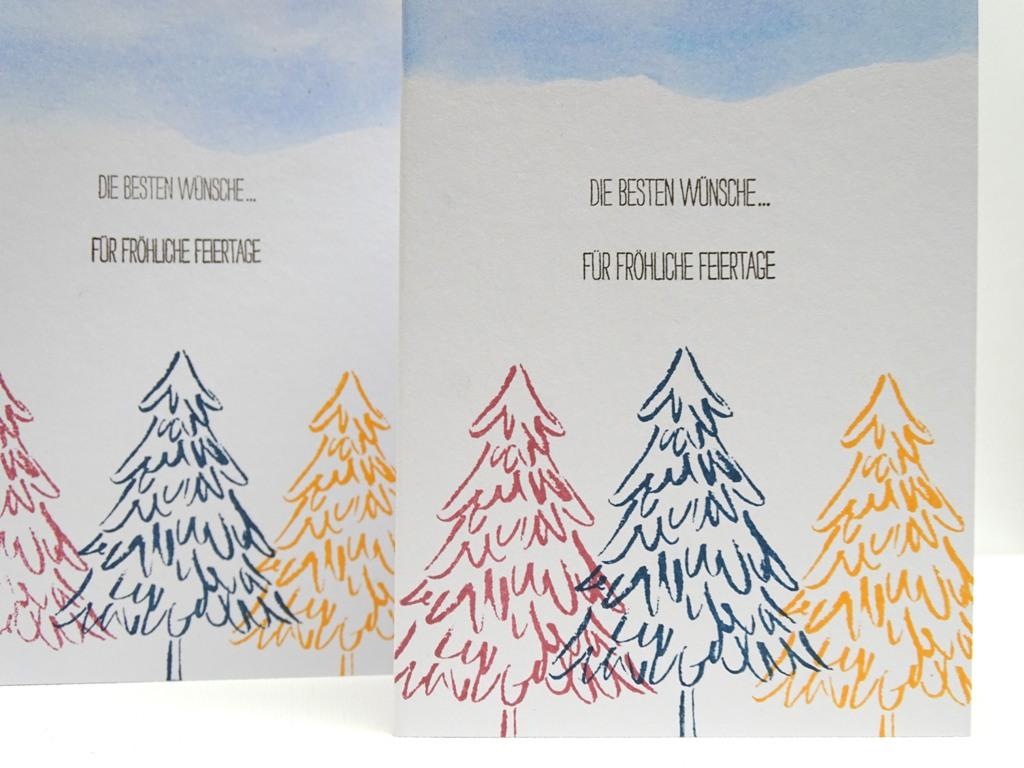 handgemachte Weihnachtskarten, Stampin up: O Tannenbaum