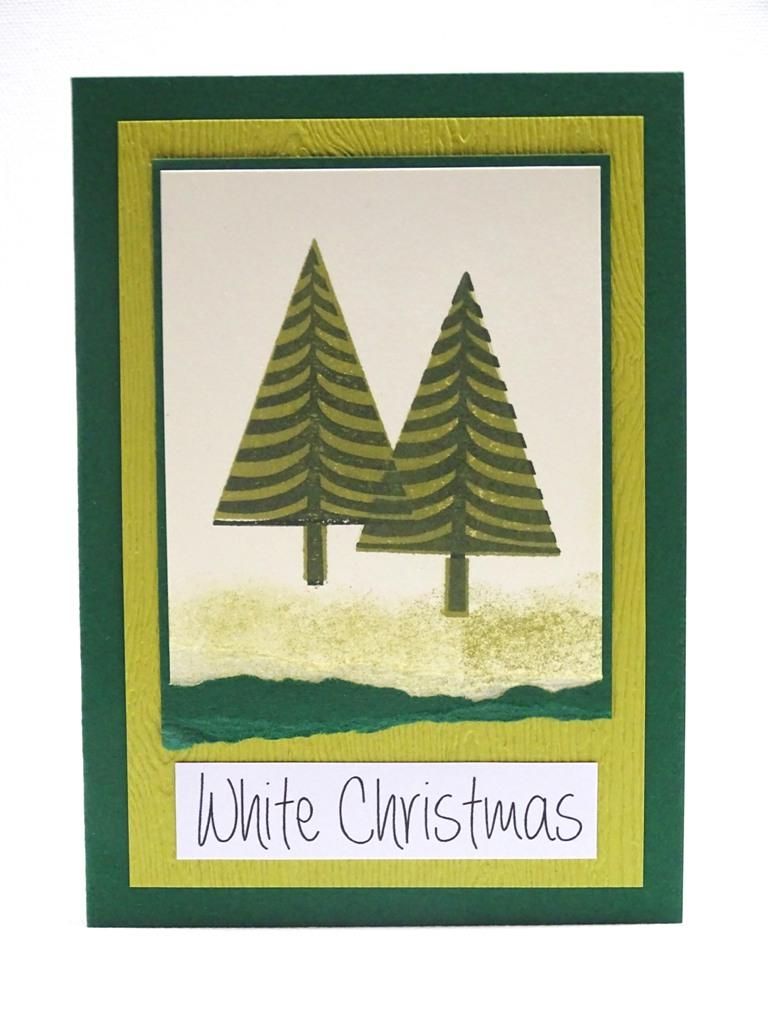 handgemachte Weihnachtskarten, Stampin up: Festival of Trees
