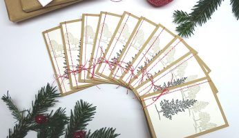 handgemachte Weihnachtskarten, Stampin up: Lovely as a tree