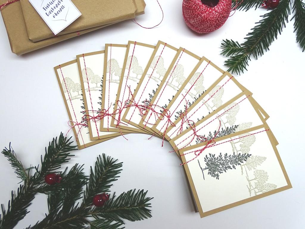 handgemachte Weihnachtskarten, Stampin up: Lovely as a tree