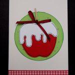 handgemachte Weihnachtskarten, Bratapfel