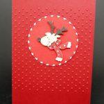 handgemachte Weihnachtskarten mit Rentier