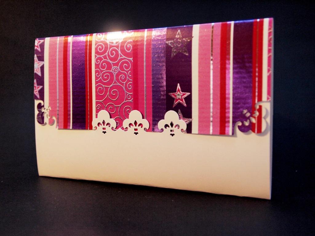 handgemachte Weihnachtskarten für Firmen, Klappkarte, Kuverkarte