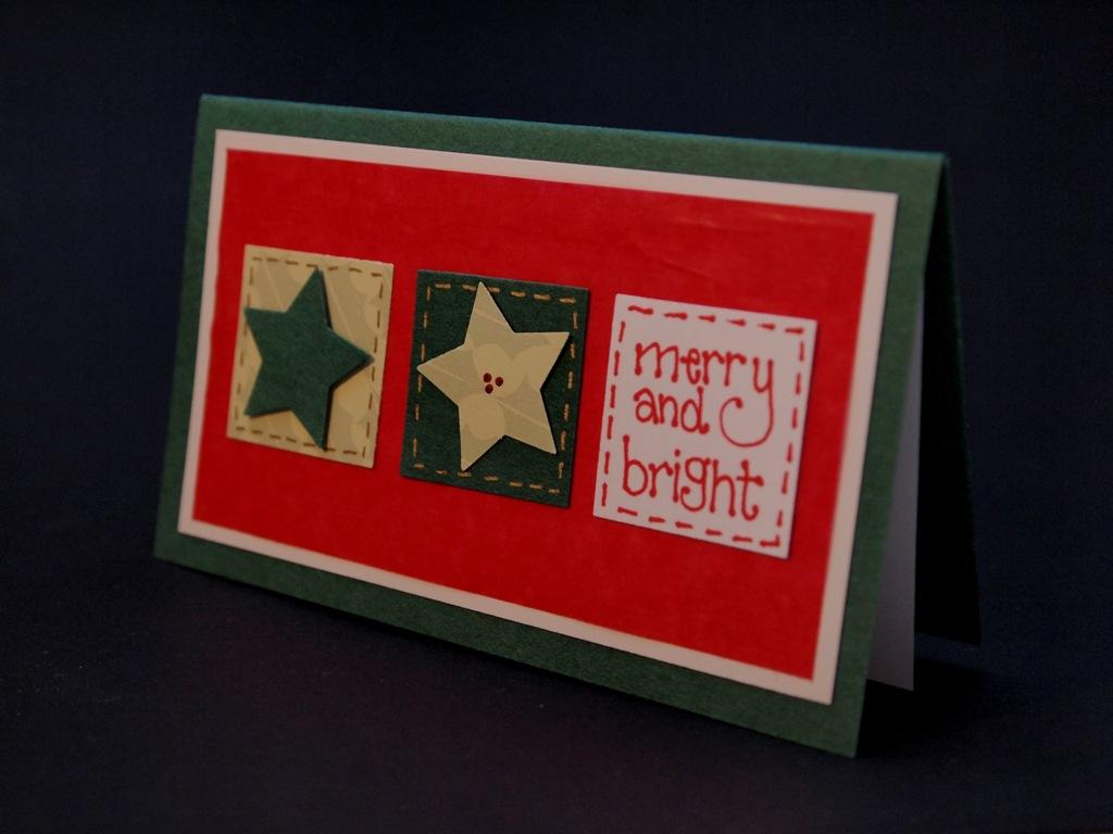 handgemachte Weihnachtskarten für Firmen, merry and bright