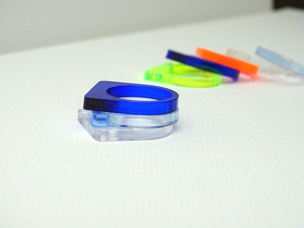 Ringe aus Acrylglas selber machen, Anleitung