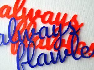 Schriftzug lasern aus Acrylglas in Wien