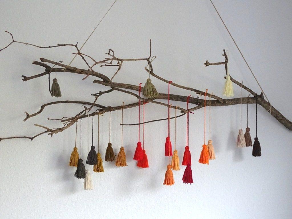 Quasten selber machen für Treibholz DIY-Ideen