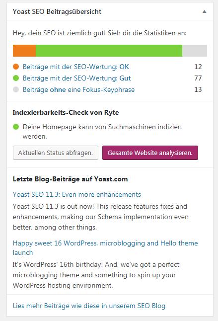 Tolle SEO-Werte sind gut für die Blog-Statistik