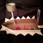 Boot aus Karton – Basteln nach Kinderzeichnungen