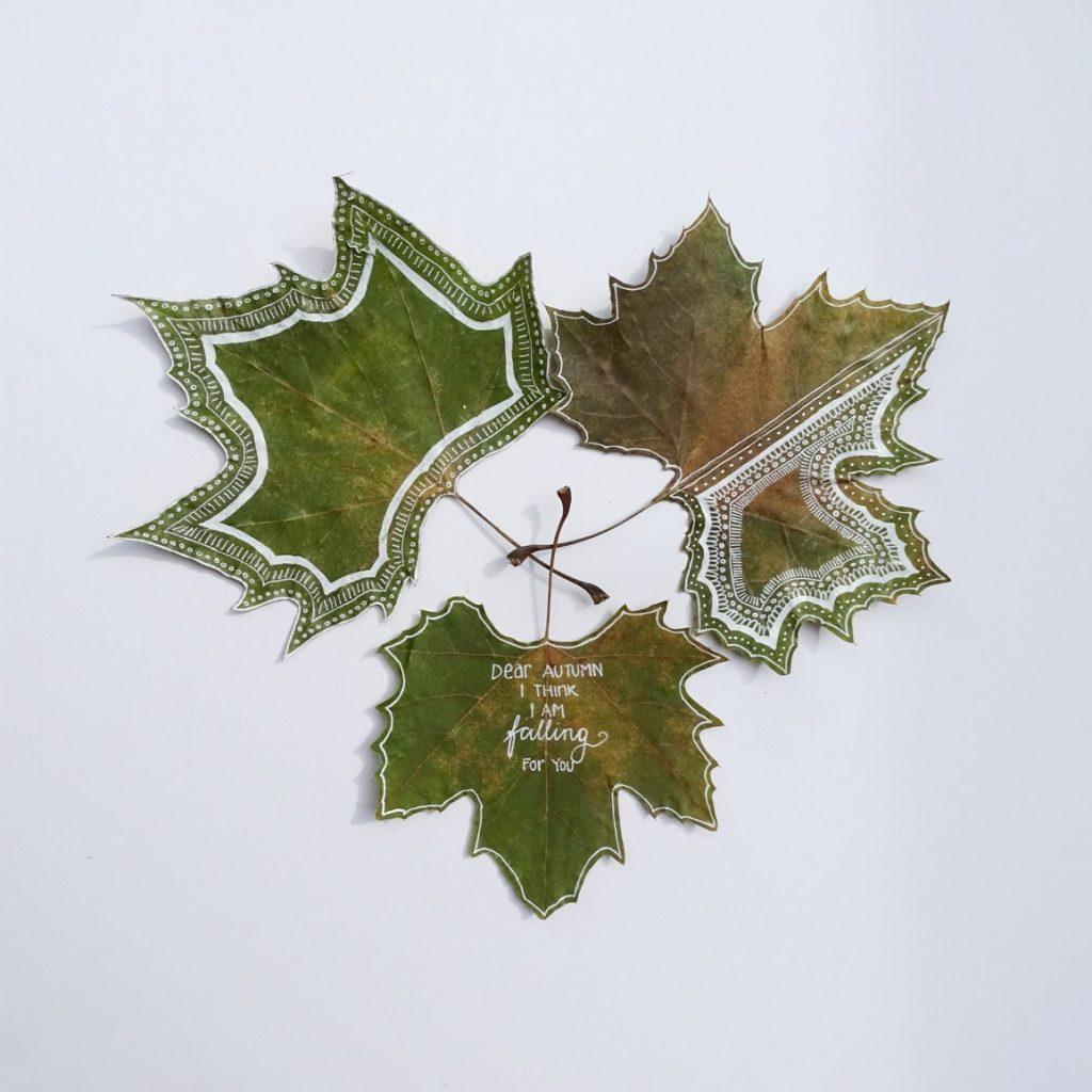 Herbstblätter bemalen, Ideen und DIY-Tipps