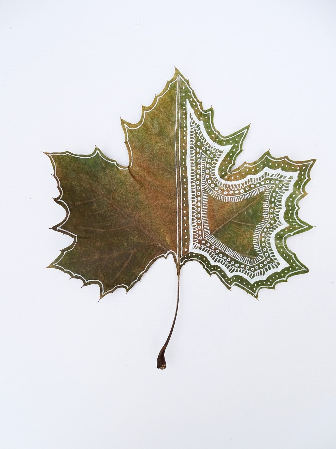 Blätter bemalen: Musterideen