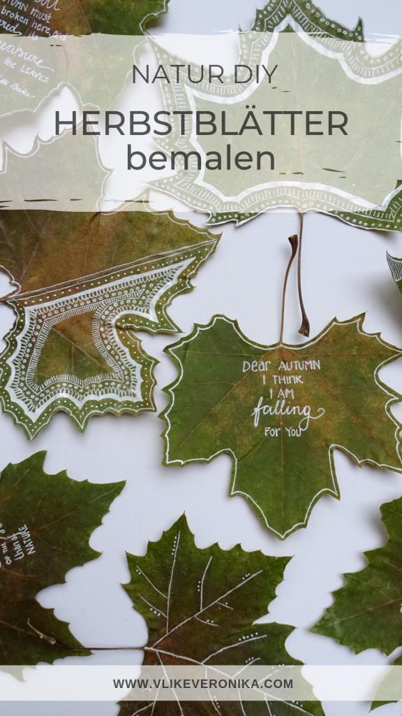 Blätter bemalen: Inspirationen, Muster, Texte, Zitate zum Herbst, Mit welchen Stiften