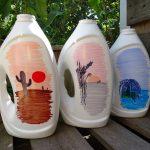 Waschmittelflaschen-Upcycling: Gießkannen