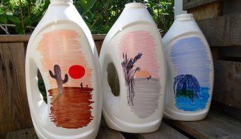 Upcycling-Ideen für Waschmittelflaschen