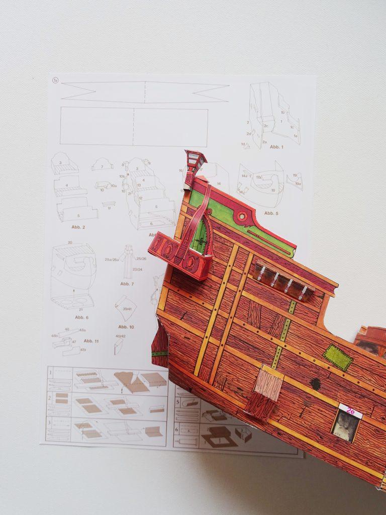 Bastelbogen Piratenschiff_retro Bastelidee
