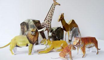 Bastelbogen ausschneiden: Zootiere für Stop-Motion-Videos