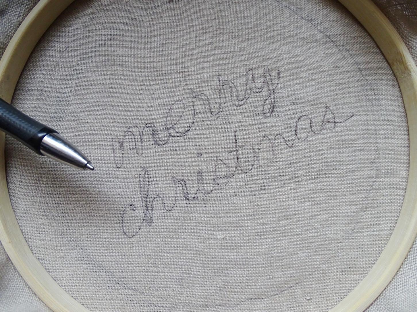 merry christmas Schriftzug sticken