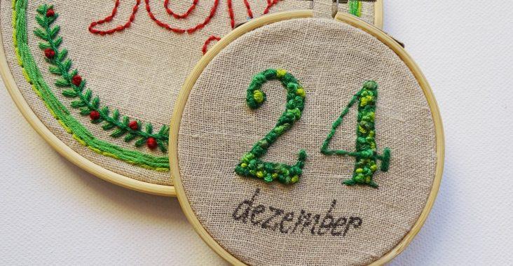 Weihnachtliche Stickbilder In Stickrahmen Vlikeveronika
